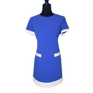 NWT Tommy Hilfiger blue white short sleeve dress